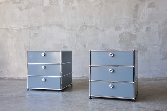 USM Haller 3 Drawer End Tables