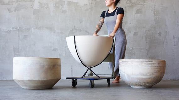 Massive John Follis Architectural Pottery Bowl