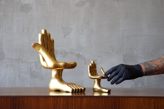 Pair of Pedro Friedeberg 'Hand Foot' Sculptures