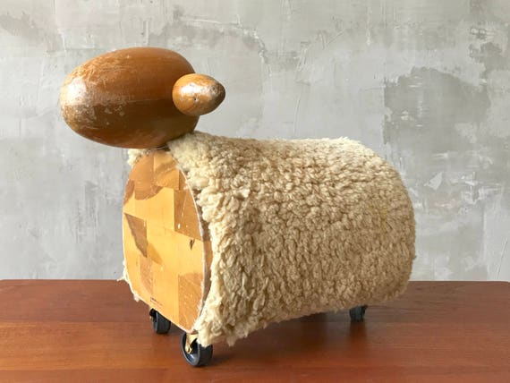 Creative Playthings Ride-on Lamb.