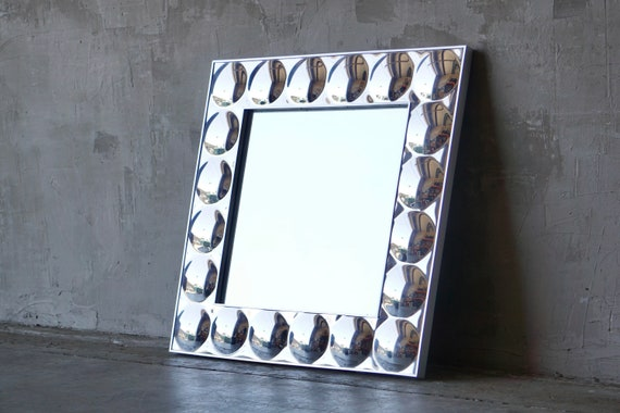 Turned Chromed Bubble Wall Mirror