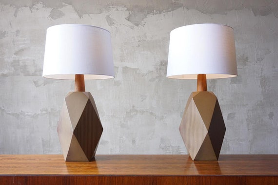 Large Pair of Martz Lamps