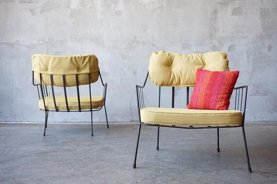 Paul Laszlo Iron Lounge Chairs