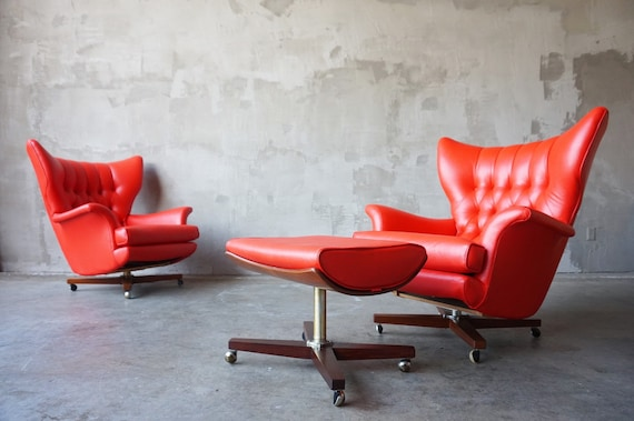 Pair of G-Plan Wingback Lounge Chairs
