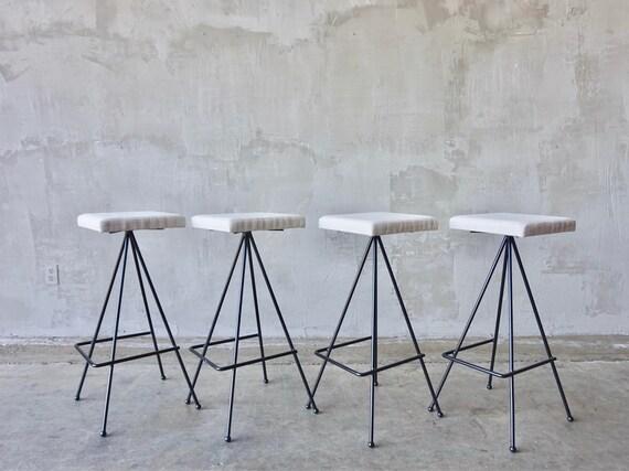 Set of 4 Iron Barstools