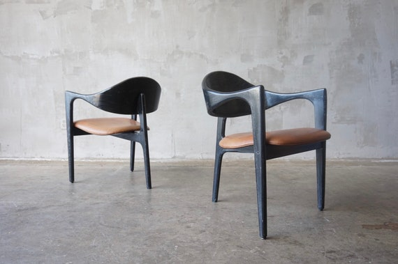Pair of Tripod Armchairs.