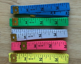 """Measuring Tape, 60"""" Sewing Tape Measure, 150 CM Tape Measure, Flexible tape measure, Soft measuring tape,Green,Blue,White,Yellow,Pink Tape"""
