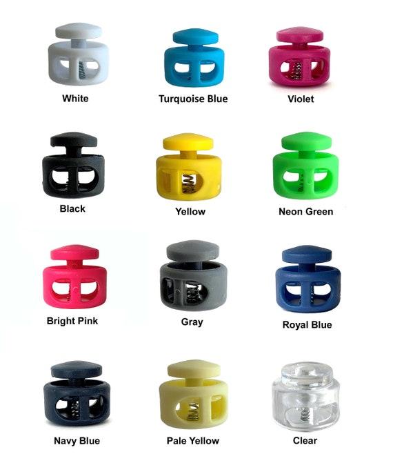 Pair Of Button Toggle Cord Locks Plastic Toggle Set Elastic Etsy