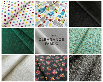 Clearance Cotton Fabric, 100 percent cotton fabric by the yard & half yard