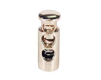 Toggle Cord Lock in Gold tone Metal