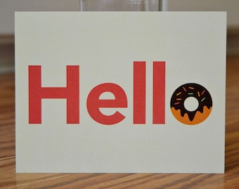 Hello! / Donut Note Card