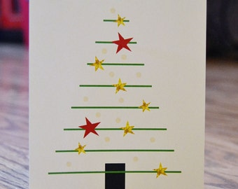 Modern Tree / Holiday / Christmas Note Card