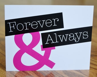 Forever & Always Note Card