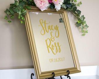 Wedding Mirror Sign - Wedding Mirror - Large Wedding Mirror - Wedding Mirror Welcome Sign - Welcome Wedding Sign - Mirror Sign for Wedding