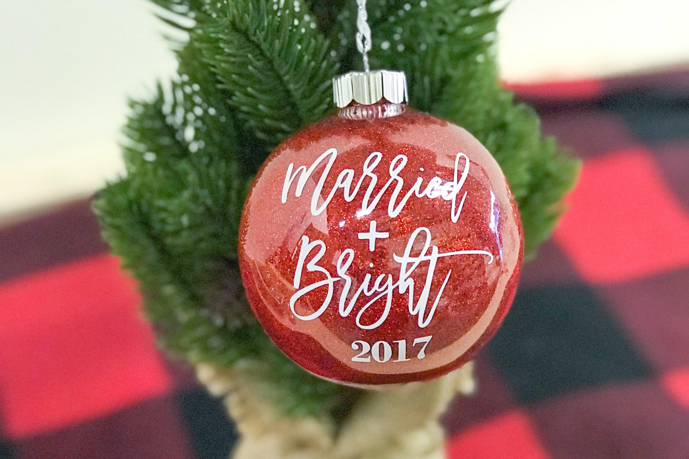 Married and Bright Christmas Ornament Married Christmas Tree | Etsy