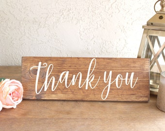 Rustic Thank You Wedding Sign - Thank You Wedding Photo Prop - Wedding Thank You Sign - Thank You Wedding Sign - Wood Thank You Sign - Prop
