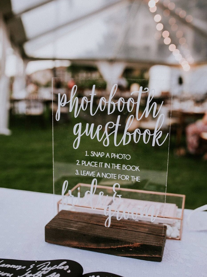 Photo Guestbook Sign  Instant Photo Guestbook Sign  Photo image 0