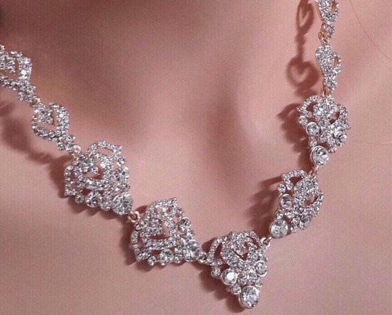 austrian crystal necklace, victorian statement nec