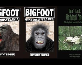 Timothy Renner 4 book set - CRYPTIDS - bigfoot - SASQUATCH - paranormal - WEIRD - pennsylvania - ghosts - dogman - mothman - ufo
