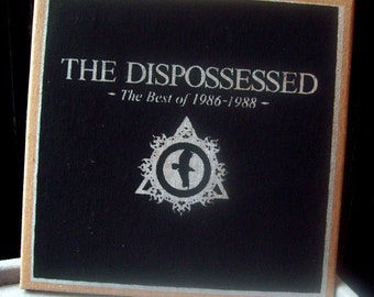best of THE DISPOSSESSED CDr ltd edition silscreen cover post-punk gothic goth