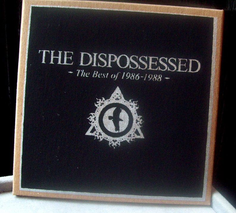 best of THE DISPOSSESSED CDr ltd edition silscreen cover image 0