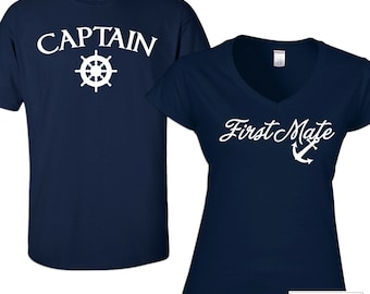 a90c59874c8 Couples Captain and First Mate Shirt Set - 638b