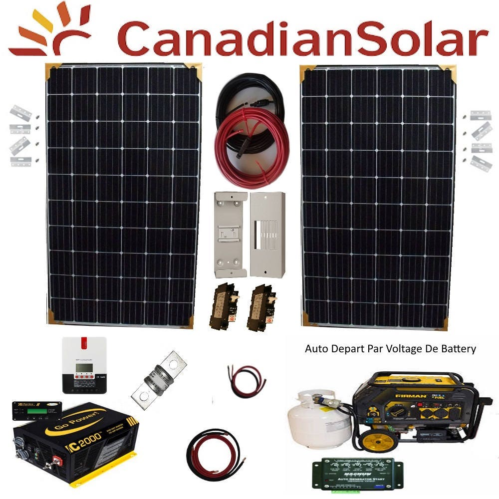 600 To 2400 Watt Canadian Solar Panels With Pure Sine Etsy Wiring The Into Epanel And Charge Controller On Zoom