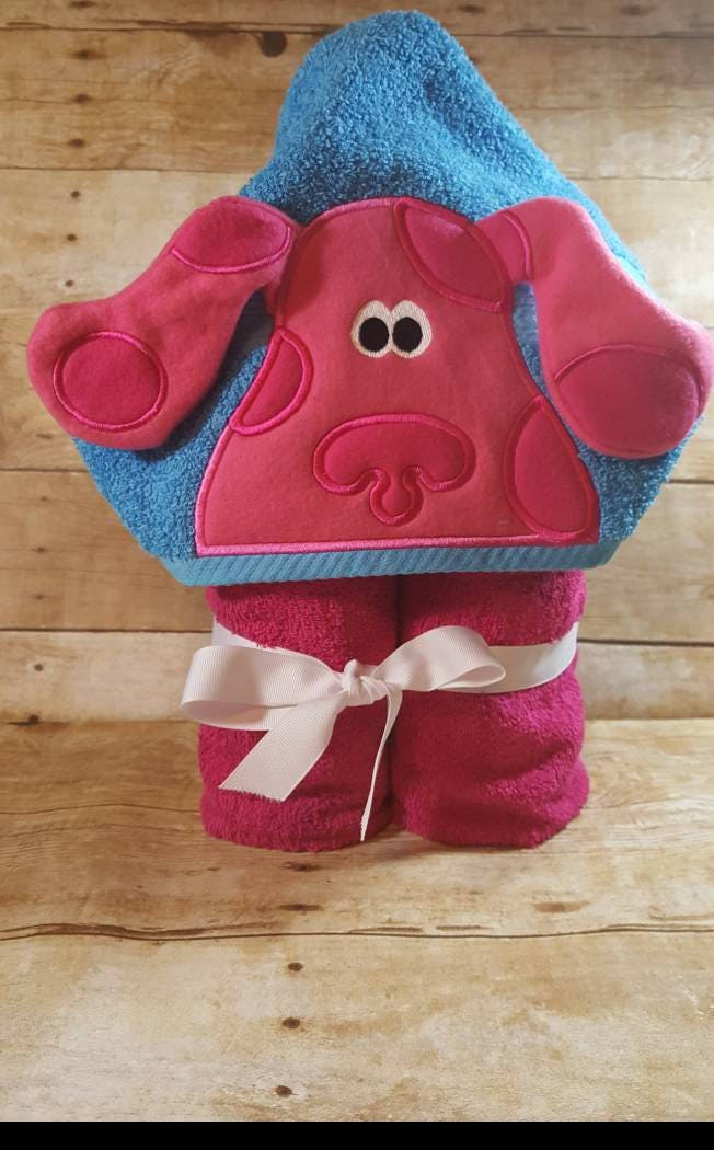 Blues Clues Magenta Hooded Towel Etsy