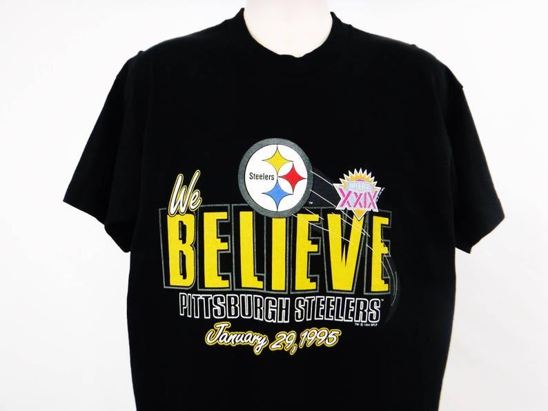 34dd2b5e4 Steelers T Shirt Pittsburgh Steelers Shirt Super Bowl XXIX T