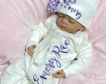 Girl Clothes Mauve Baby Take Home Outfit Newborn Girl Coming Home Outfit Layette Gown Knotted Bottom Baby Shower Gift Newborn Sleeper