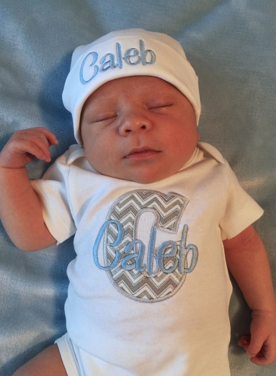 0db02daa94233 Baby Boy COMING HOME Outfit Take Home Outfit Monogram Newborn
