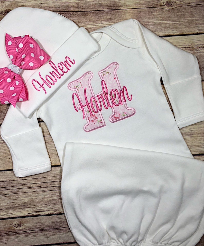 ddfb203c6 Newborn girl coming home outfit baby girl personalized baby | Etsy