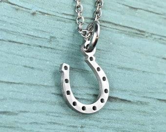 Horseshoe Pendant Small Sterling Horseshoe Charm Sterling Silver Charm Gift for Her Vintage Charm for Charm Bracelets