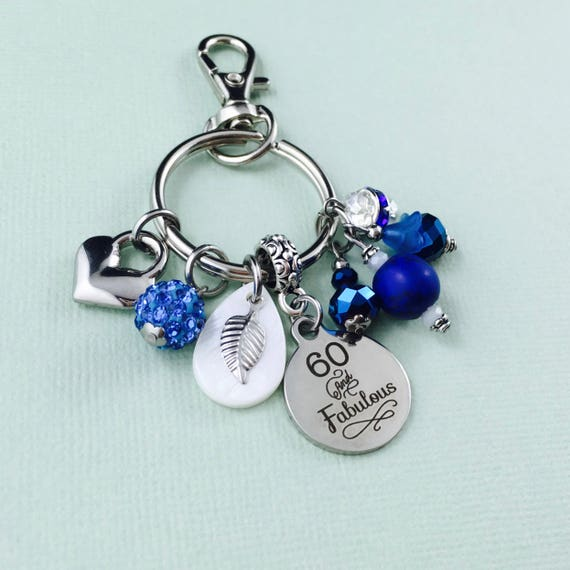 60 And Fabulous Keychain 60th Birthday Gifts For Women 60Th