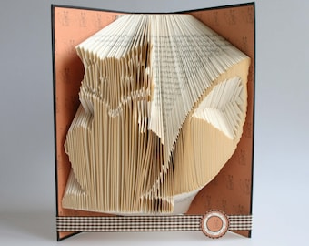 Fox Book Folding Pattern: Includes free printable downloads to personalise your book art and  full step by step tutorial.