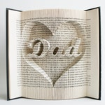 Book Folding Pattern Dad in Heart: Book Folding Tutorial, Cut and Fold, Free printable downloads to personalise your book art