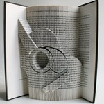 Guitar Book Folding Pattern + Tutorial, Cut and Fold, Free printable downloads to personalise your book art