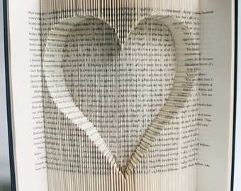Book Folding Pattern Heart Cut and Fold: with free printable downloads (pdf) to personalise your book art and full step by step tutorial