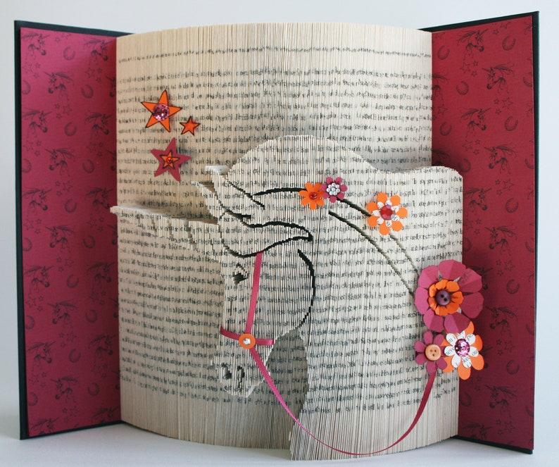 Unicorn Book Folding Pattern  Tutorial Cut and Fold Free image 0