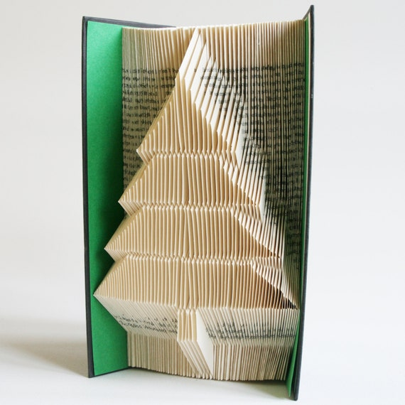 Christmas Tree Book Folding Pattern 2 Looks Free Printable Etsy