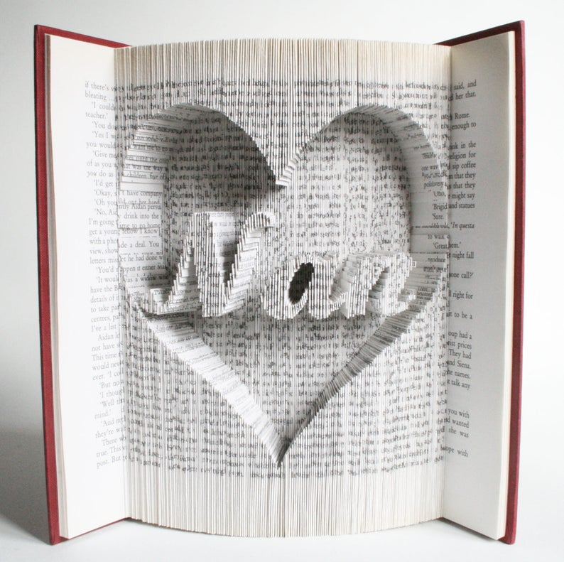 Nan in Heart  Mothers Day Book Folding Pattern with cuts : image 0