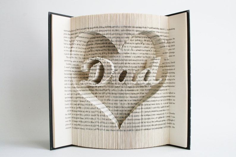 Book Folding Pattern Dad in Heart: Book Folding Tutorial Cut image 0