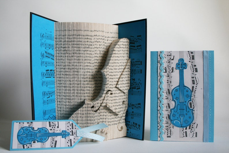 Book Folding Pattern Violin: Book Folding Tutorial Cut and image 0