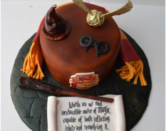 Harry Potter Edible Cake Topper Birthday Party