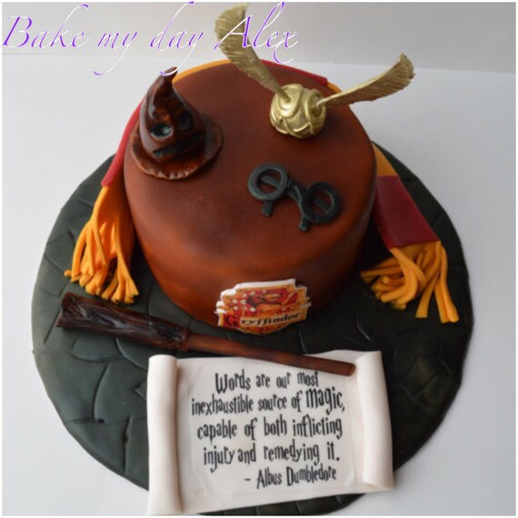 Harry Potter Edible Cake Topper Birthday Party Harry Potter Etsy