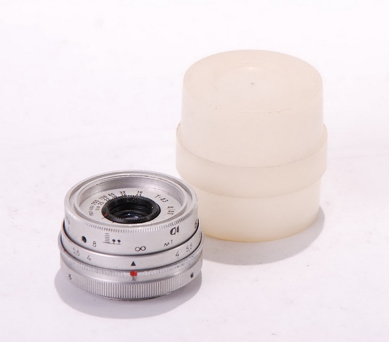Unique T-43 L39 M39 Leica Screw Mount 40mm 1:4 Full Frame Lens Chrome  Smena-8M Any Camera With Adapter LOOK & TRY!