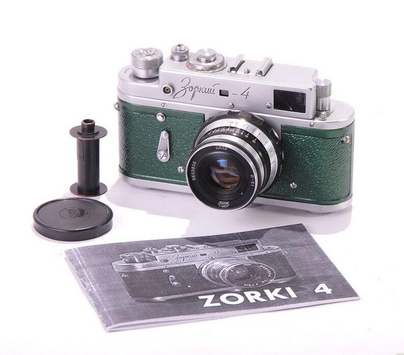 Zorki 4 Refurbished USSR Leica Camera Green Metallic Industar 61 Lens Ready to shoot Warranty