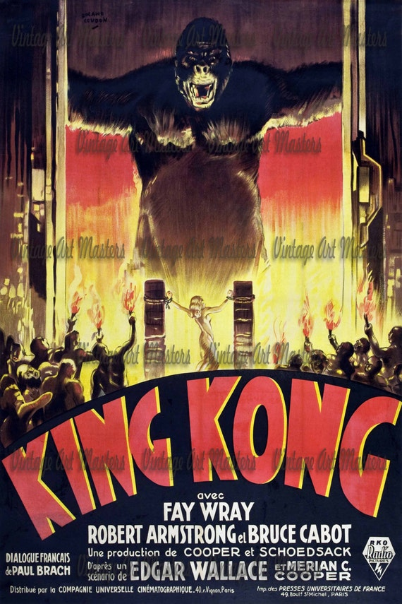 King Kong Fay Wray 1933 Vintage movie poster print 18