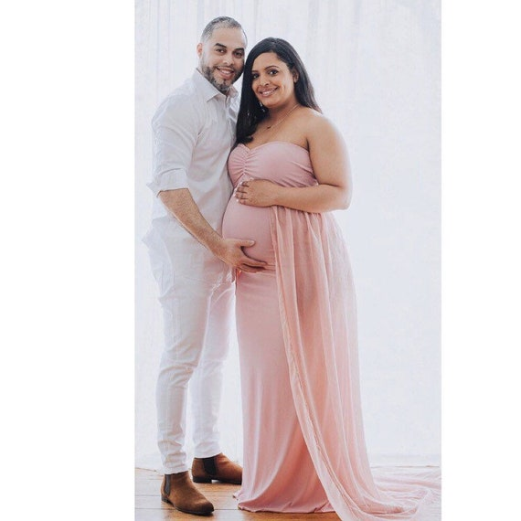 35colors~Maternity fitted strapless sweetheart gown~Maternity dress~Baby shower dress~Photography prop gown~Plus size gown~pregnancy dress