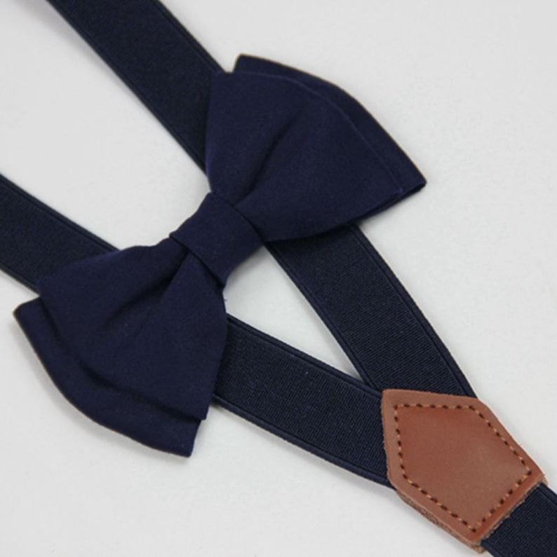 82c7a7a45bac Blue bow tie&suspenders navy blue baby bow tie custom bow tie | Etsy